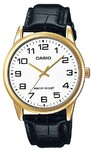 Casio Standard Collection WR Analog Watch - Gold and White
