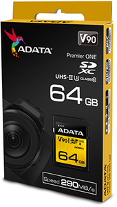 ADATA Premier ONE V90 64GB SDXC UHS-II Class 10 Memory Card - Cover