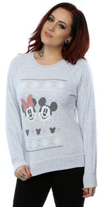 Disney - Mickey & Minnie Mouse Ladies Sweatshirt (Small) - Cover