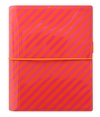 Filofax Domino Patent A5 Orange Pink Stripes