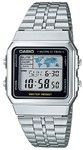 Casio Retro WR Digital Watch - Silver and Black