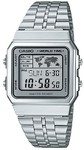 Casio Retro WR Digital Watch - Silver and Grey