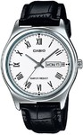 Casio Standard Men's WR Analog Watch - Silver and Black