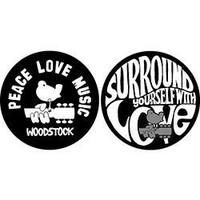 Woodstock - Peace Love Music Slipmats (Slipmat Set)