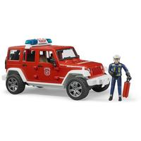 Bruder Toys - Jeep Wrangler Unlimited Rubicon fire department vehicle with fireman