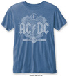 AC/DC - Black Ice Mens Burnout Mid Blue T-Shirt (X-Large)