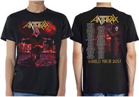Anthrax - Bloody Eagle Men's T-Shirt - Black (Large) - Cover