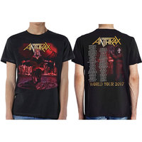 Anthrax - Bloody Eagle Men's T-Shirt- Black (Small) - Cover
