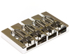 Graphtech Ghost Loaded Hipshot A-Style 4 String Bass Guitar Bridge (Chrome)