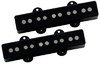 DiMarzio DP552BK Area J 5 Jazz Bass 5 String Bass Guitar Pickup Set - Black (Neck and Bridge)