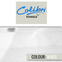 Colibri Towelling - Imperial Bath Towel - White (Pack of 2) - Cover