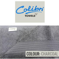 Colibri Towelling - Imperial Bath Towel - Charcoal Grey (Pack of 2)