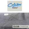 Colibri Towelling - Imperial Bath Sheet - Charcoal Grey (Pack of 2)