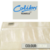 Colibri Towelling - Imperial Bath Sheet - Cream (Pack of 2)