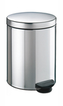 Meliconi - Tinplated Metal Pedal Bin - Brushed Steel (5 Litre)