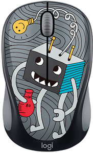 Logitech - M238 Lightbulb Cordless Notebook Mouse - Doodle Collection