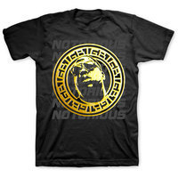 Biggie Gold Circle Mens T-Shirt - Black (Small) - Cover
