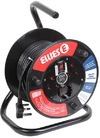 Ellies - 15m Ext.Reel With Surge (1mm/10a) (250V ~ 2 x 10A/ 1 x 5A)