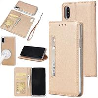 iPhone X Removable Case, Zmiq [2 in 1] Detachable PU Leather iPhone X Wallet Card Case Flip Phone Case Cover with Magnet Closure For iPhone X(2017)(IphoneX Gold GSW) (Wireless Phone Accessory)