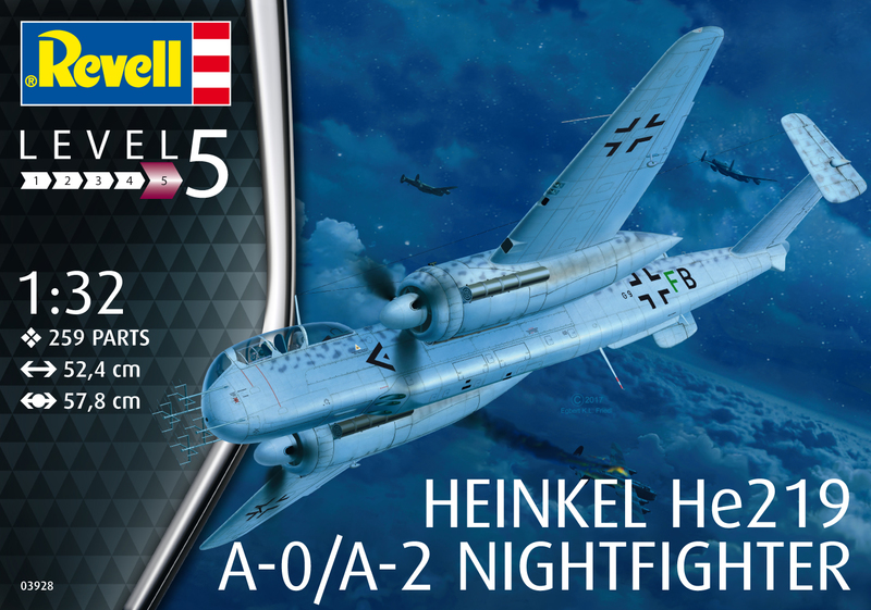 Revell 1:32 - Heinkel He219 A-0 Nightfighter (Plastic Model Kit) | Raru