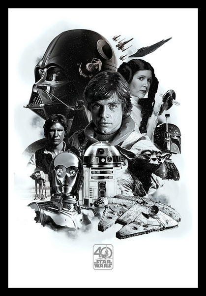 star wars 40th anniversary framed poster merch