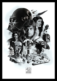 Star Wars - 40th Anniversary (Framed Poster) - Cover