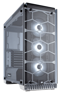 Corsair Crystal 570X Midi-Tower Computer Chassis - White/Crystal