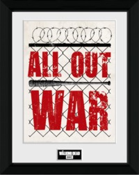The Walking Dead - All Out War Collectors Framed Print - Cover