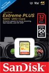 Sandisk Extreme Plus SDHC 32 GB Class 10 UHS-I V30 Card