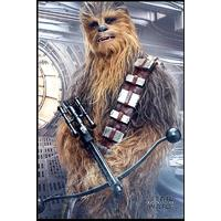 Star Wars - The Last Jedi Chewbacca Bowcaster (Framed Poster)