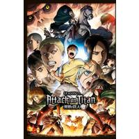Attack On Titan - Season 2 Collage (Framed Poster)