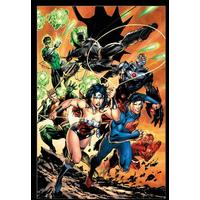 DC Comics - Justice League Charge (Framed Poster)