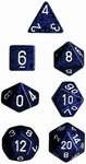 Chessex - Set of 7 Polyhedral Dice - Speckled Stealth