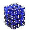 Chessex - 12mm D6 36 Dice Block - Translucent Blue / White