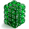Chessex - 12mm D6 36 Dice Block - Translucent Green / White
