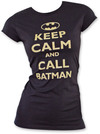 Batman - Keep Calm Women's Shirt Black (Small)