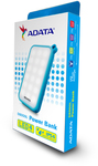 ADATA - D8000 Lithium Polymer (LiPo) 8000mAh Power Bank - Blue/White