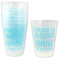 Food Is Good Wine is Better 16 oz. Party Cups Bachelorette 8-Pack Glasses