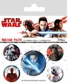 Star Wars The Last Jedi: Characters Badge Pack Cover