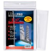 """Ultra Pro - Tall Soft Card Sleeves - 7"""" X 5"""" (100 Sleeves) - Cover"""