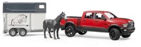 Bruder Toys - RAM 2500 Power Wagon with horse trailer and 1 horse