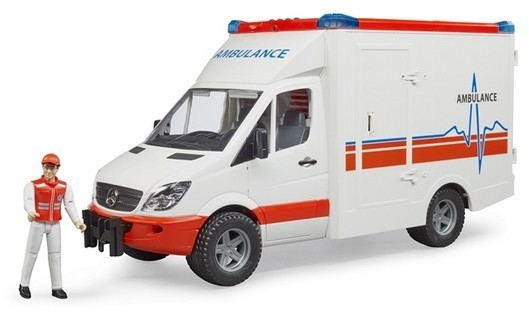 bruder toys mercedes benz sprinter ambulance with driver. Black Bedroom Furniture Sets. Home Design Ideas