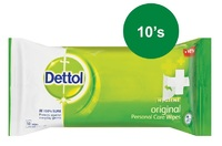 Dettol - Hygiene Wipes Original (Pack of 10) - Cover