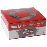 Ellies - Gu10 Trim Ring Silver (Fixed) (80mm)