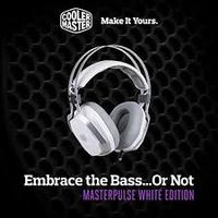 Cooler Master - Masterpulse Stereo Over-Ear Gaming Headset With Bass FX - White