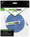 KontrolFreek - Gaming Cable - 12ft Micro USB - Blue/Silver (PS4/Xbox One/PC/Mobile)