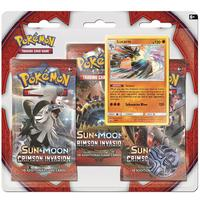 Pokémon TCG - Sun & Moon: Crimson Invasion Three-Booster Blister (Trading Card Game)