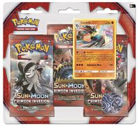 Pokémon TCG - Sun & Moon: Crimson Invasion Three-Booster Blister (Trading Card Game) - Cover