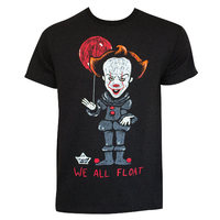 IT We All Float Black Tee Shirt (XX-Large) - Cover