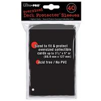 Ultra Pro - Oversized Deck Protectors - Black (40 Sleeves)